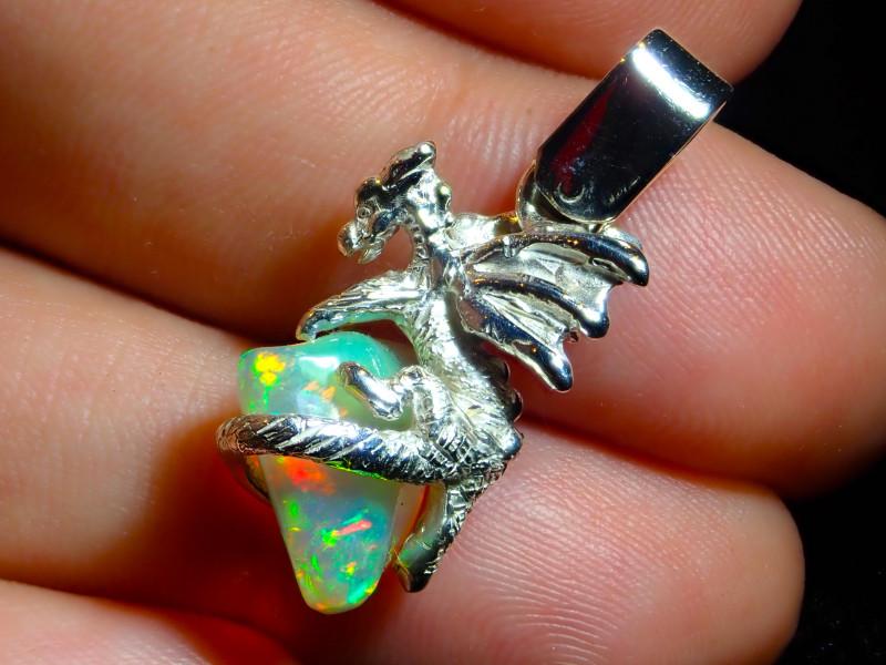 23.27ct. Sterling Silver .925 Dragon Pendant