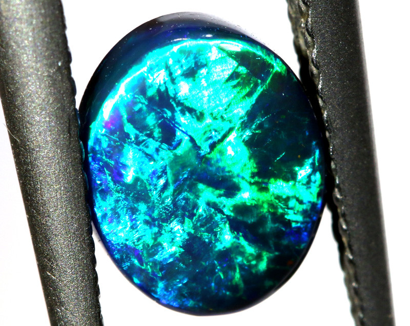 N1 -  1.15CTS QUALITY BLACK OPAL POLISHED STONE  INV-1456
