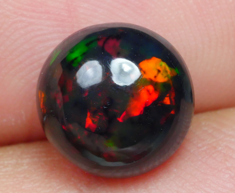 2.35 CRT ROUND SMOKED BROAD STRIPE FLORAL PLAY COLOR WELO OPAL-