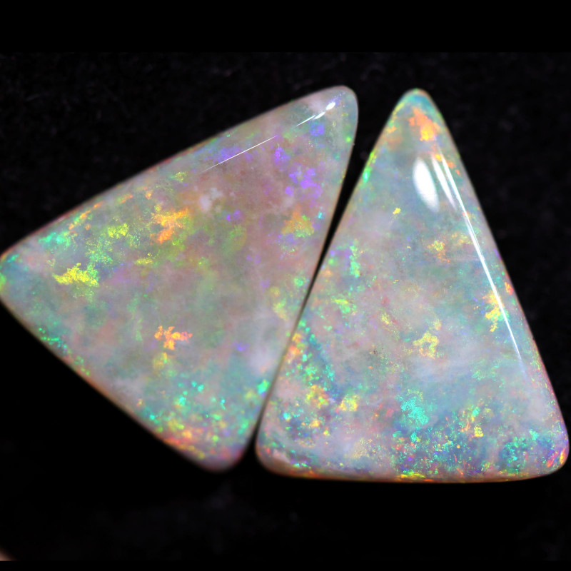 6.78 CTS CRYSTAL OPAL PAIR-DOUBLE SIDED COOBER PEDY[SEDA2984]