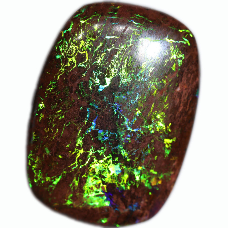 30.35 CTS STUNNING BOULDER OPAL FROM KOROIT-GREAT RING STONE [SEDA2991]