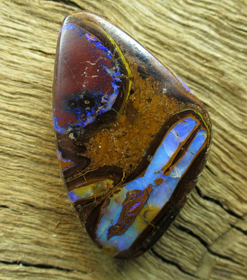 63cts, YOWAH OPAL~CONGLOMERATE PATTERN.