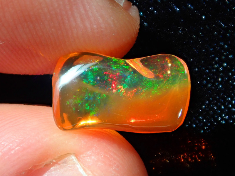 2.58ct Mexican Carving Fire Opal