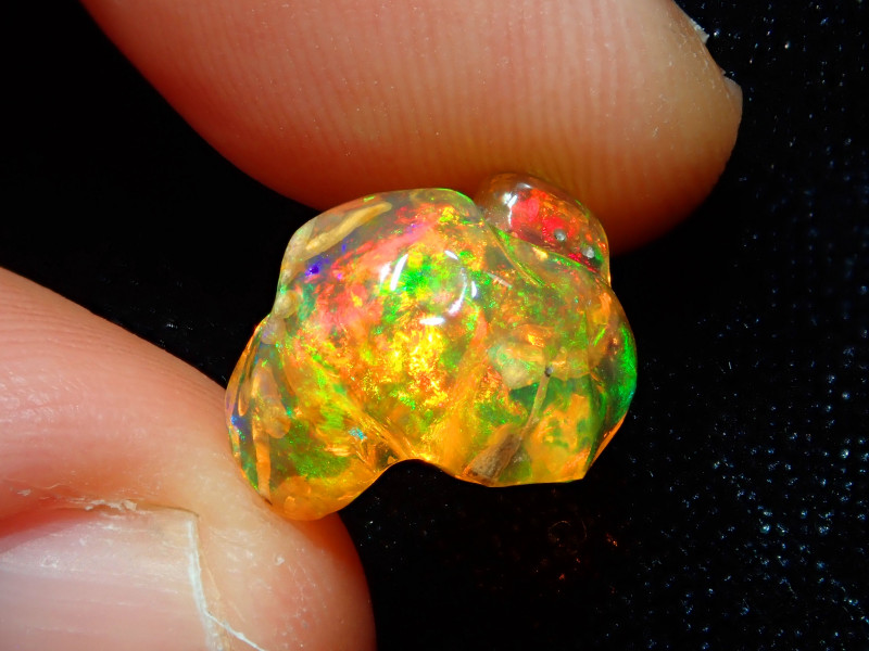 4.05ct Mexican Carving Fire Opal