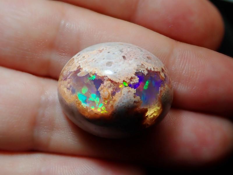 41.39ct Mexican Matrix Cantera Multicoloured Fire Opal