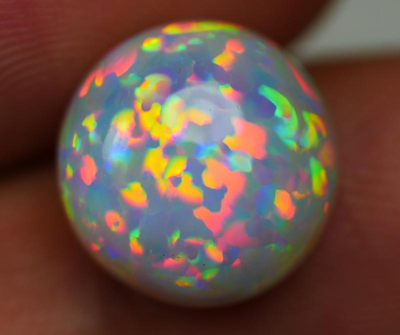 3.30 CRT WONDERFULL ROUND PRISM RAINBOW PUZZLE PATTERN WELO OPAL