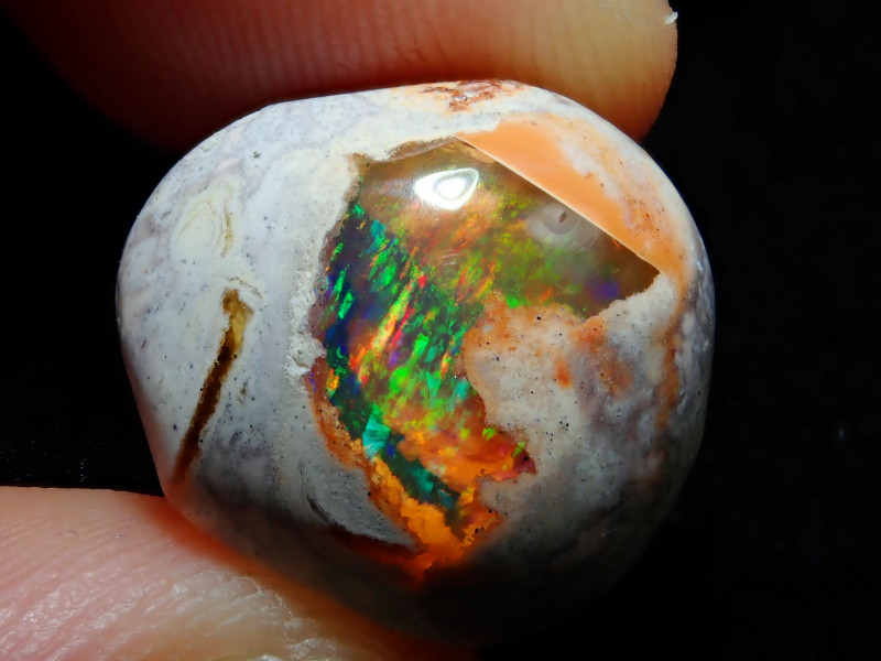 11.44ct Mexican Matrix Cantera Multicoloured Fire Opal