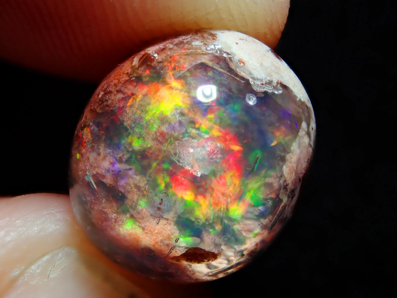 6.48ct Mexican Matrix Cantera Multicoloured Fire Opal
