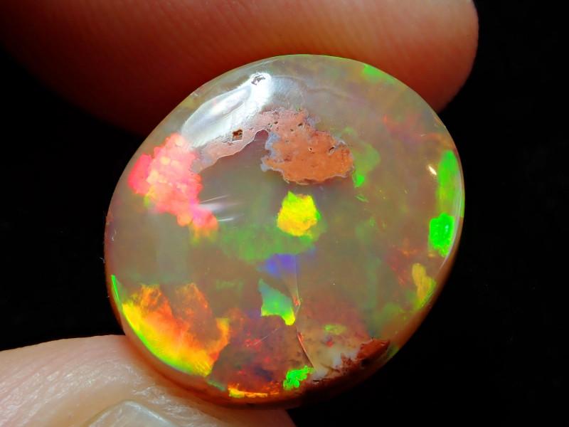 10.85ct Mexican Matrix Cantera Multicoloured Fire Opal