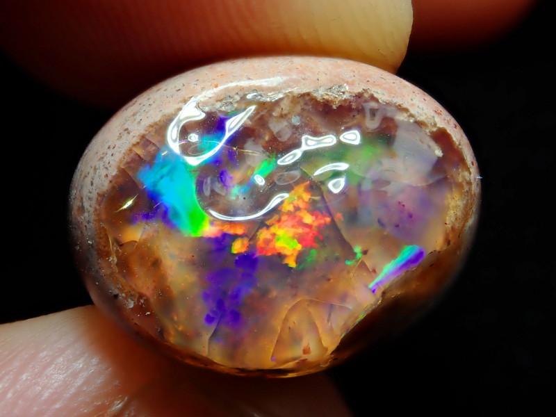 12.60ct Mexican Matrix Cantera Multicoloured Fire Opal