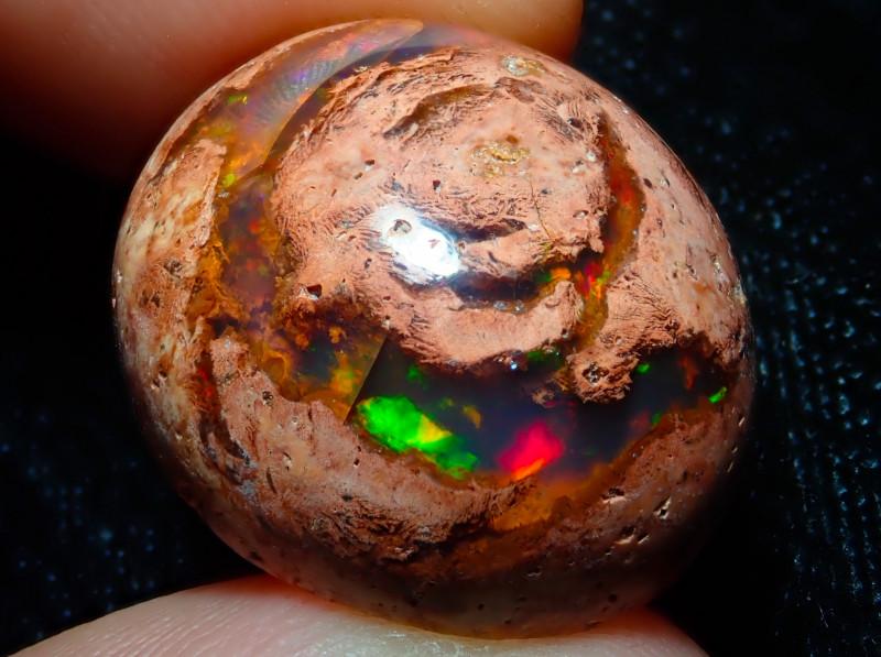 23.19ct Mexican Matrix Cantera Multicoloured Fire Opal