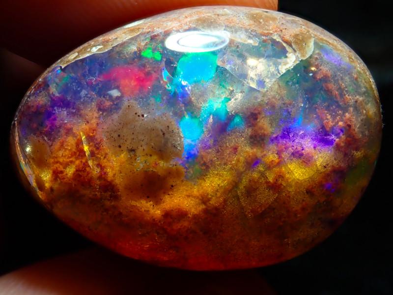 32.04ct Mexican Matrix Cantera Multicoloured Fire Opal