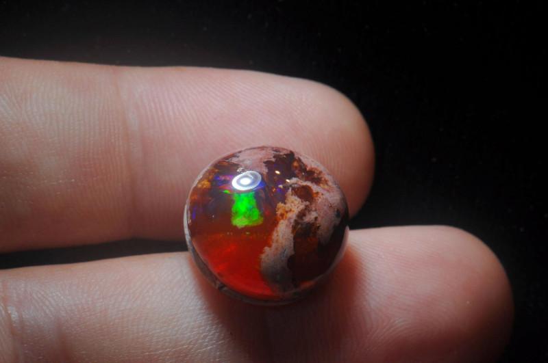 16.78ct Mexican Matrix Cantera Multicoloured Fire Opal