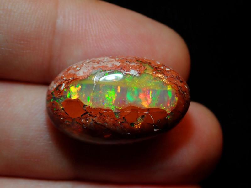20.3ct Mexican Matrix Cantera Multicoloured Fire Opal Specimen