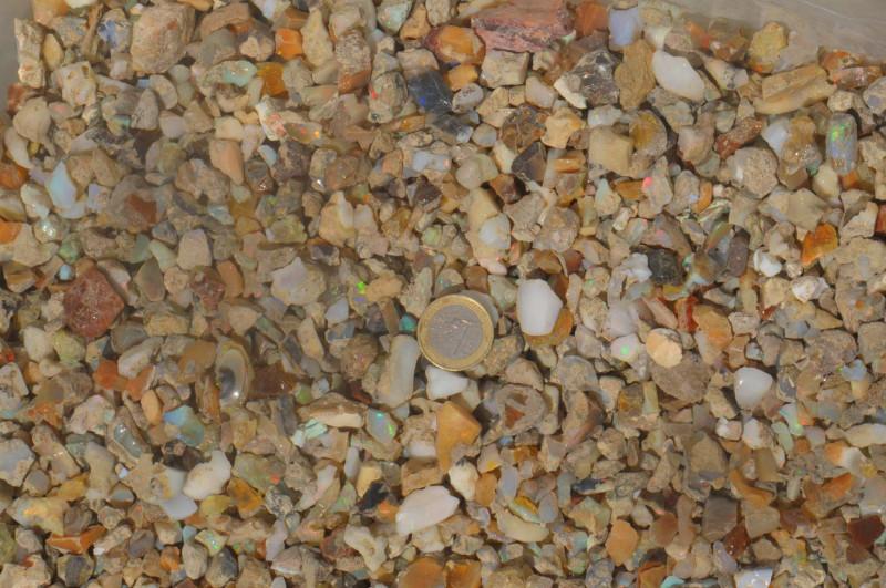 0.8 Kilo Parcel Ethiopian Welo Opal Rough Sizes .2 - 2 gram A#10
