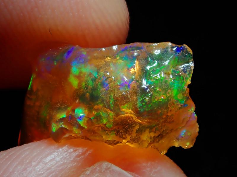 3.14ct Natural Opal Rough Mexican Fire Opal