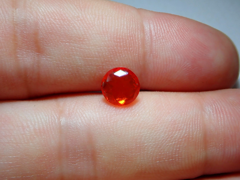 1.04ct Red Orange Facetted Fire Opal