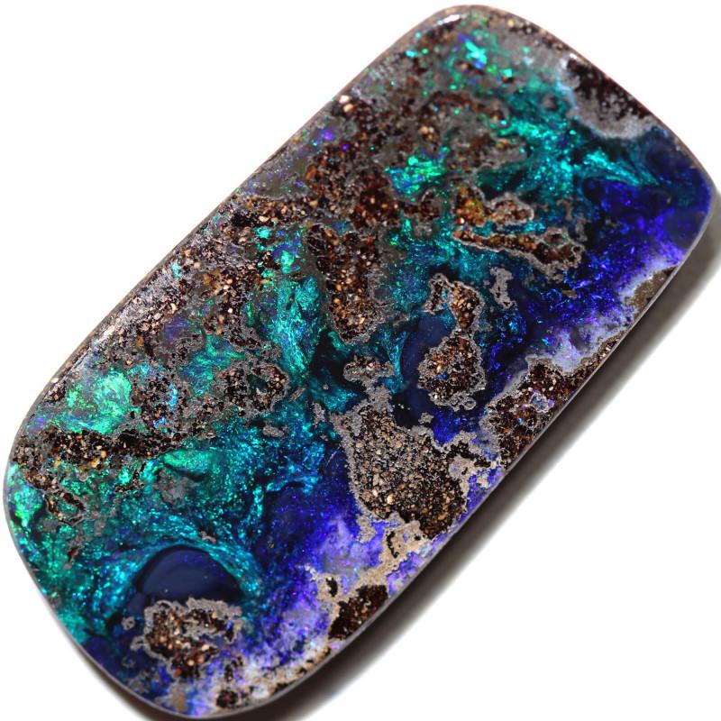 55.00 cts Dark based  Quilpie Boulder opal MMR 2370