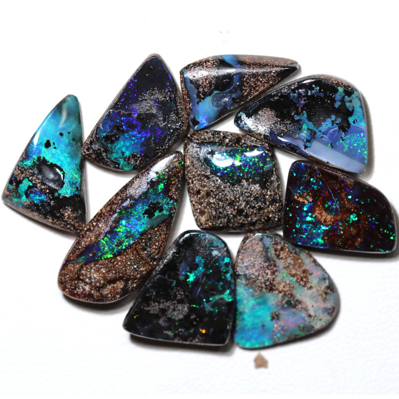 52.00 cts Dark based  Quilpie Boulder opal parcel MMR 2387