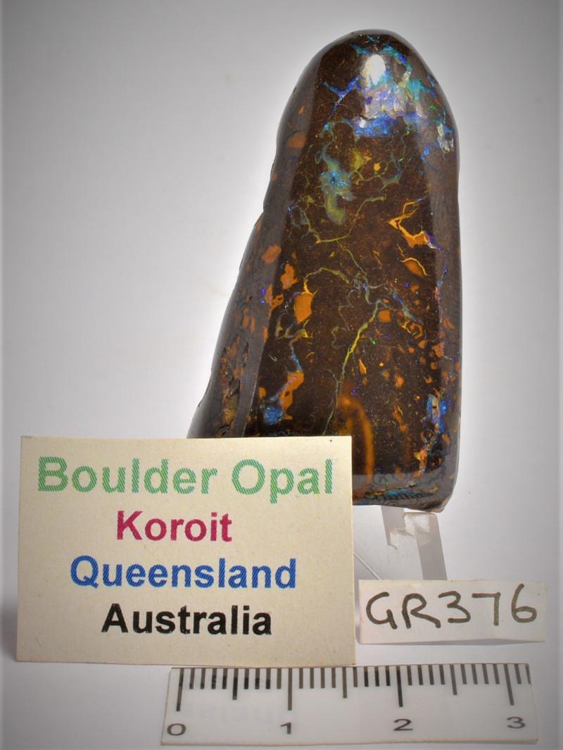 BOULDER OPAL FREEFORM POLISHED, AUSTRALIA (GR376)