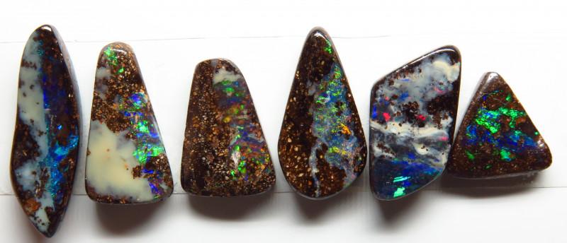 13.02ct Queensland Boulder Opal 6 Stone Parcel