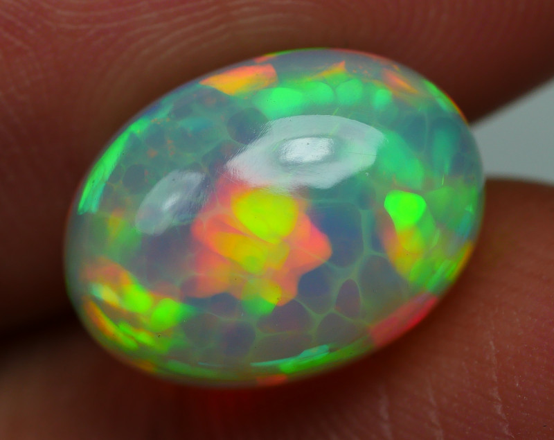 4.195 CRT BEAUTIFULL SPIDER HONEYCOMB FLORAL PLAY COLOR WELO OPAL