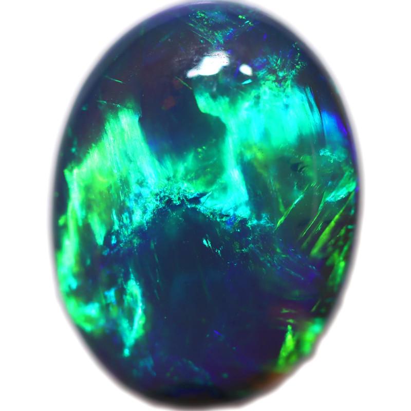 3.85Cts Nice Green flash pattern  Black Opal OPJ 2861
