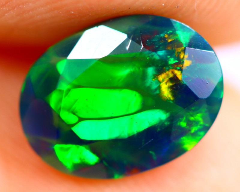 1.18cts Natural Ethiopian Smoked Faceted Black Opal / BF912