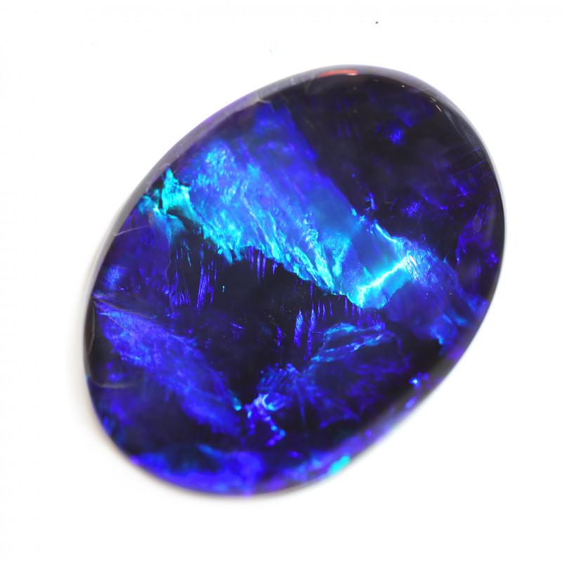 42.30 CTS BLACK OPAL STONE-BLUE -LIGHTNING RIDGE. [CS136]