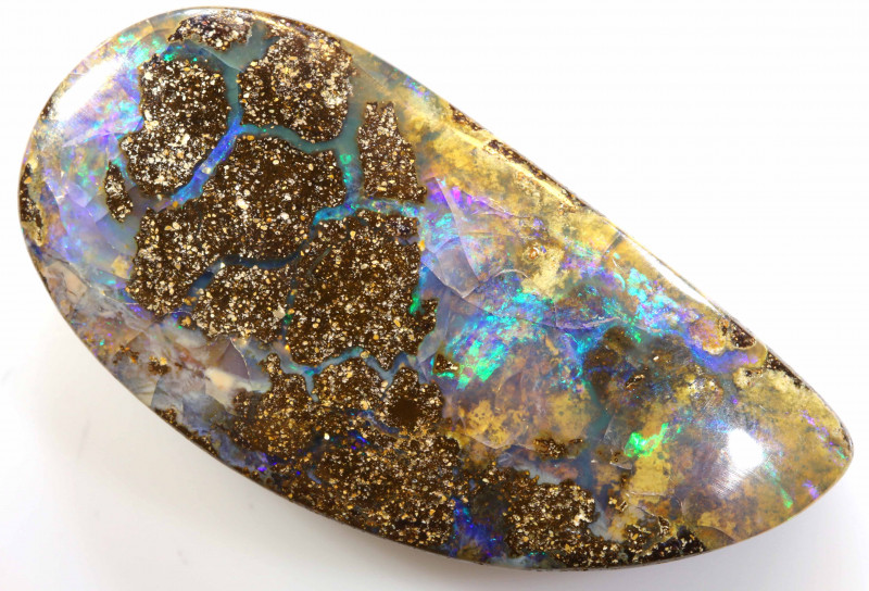 51.25 CTS Natural Australian Boulder Opal Solid Stone C-432