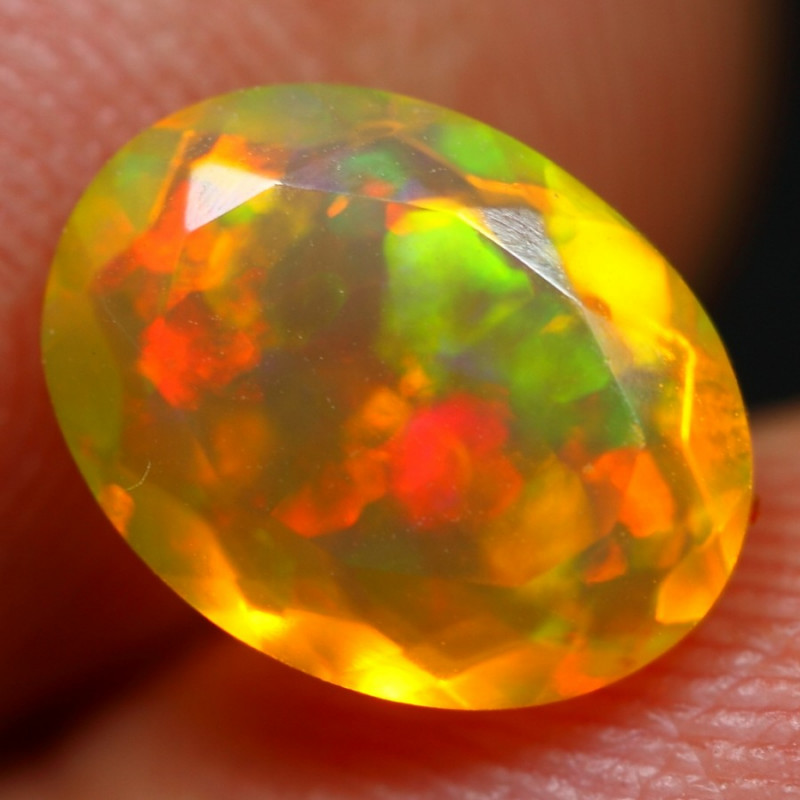 1.40cts Sunset Fire Natural Ethiopian Welo Opal