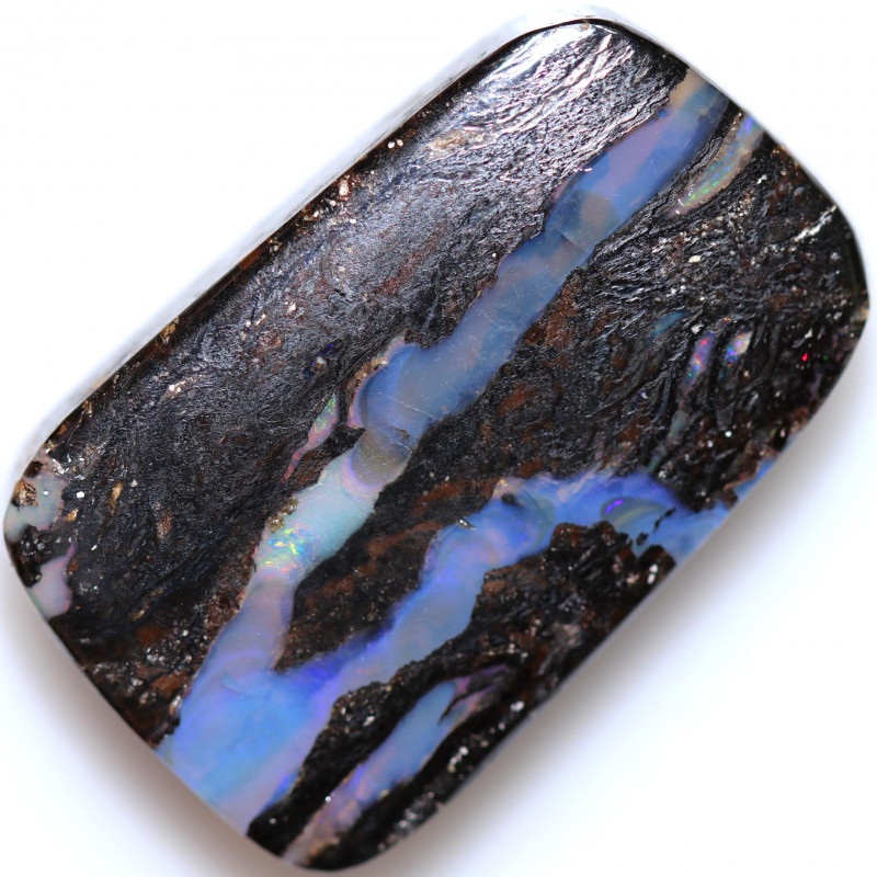 40.68 CTS BOULDER WOOD FOSSIL STONE WELL POLISHED[BMA9329]