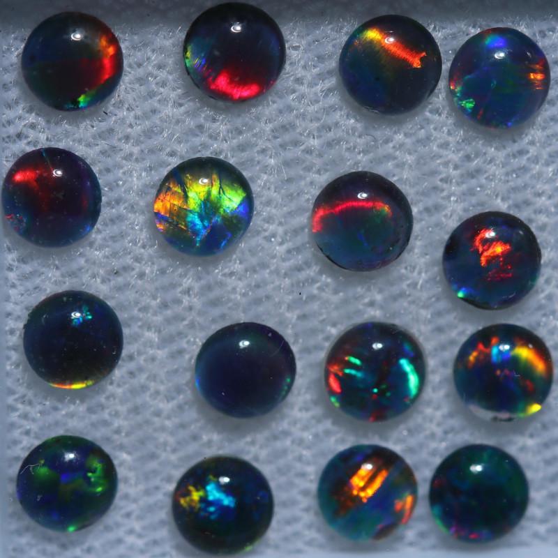 3.4 Cts  Australian Triplet  Opals 4mm   OPJ 2890