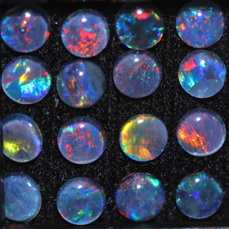 5.3 Cts  Australian Triplet  Opals 4mm   OPJ 2897