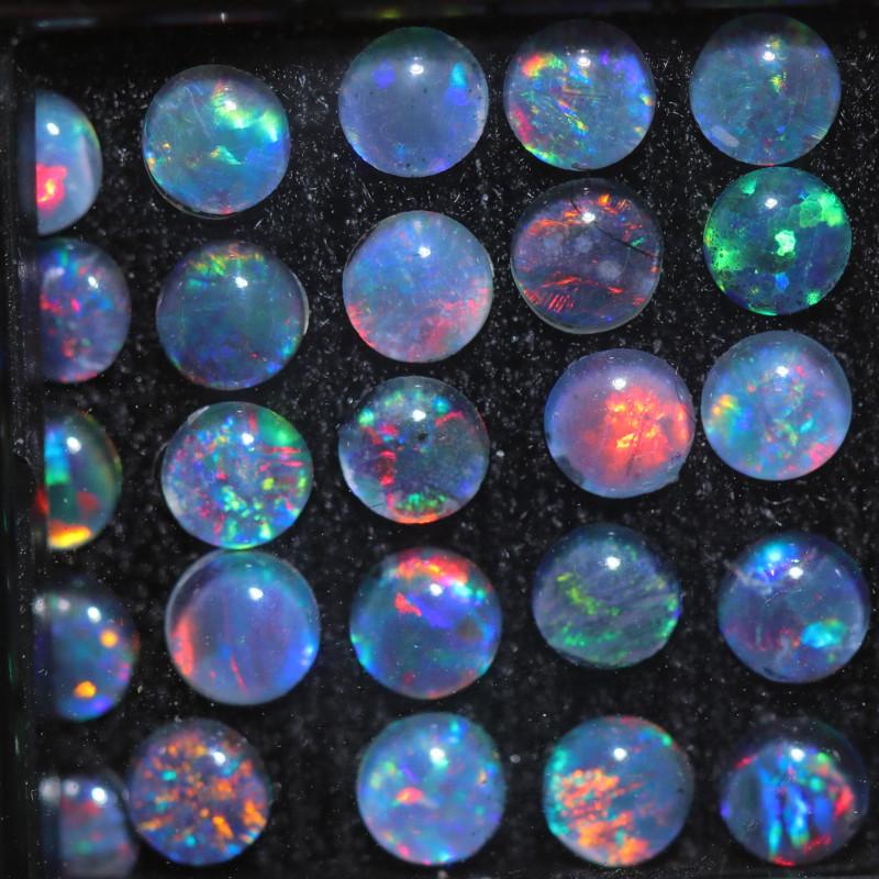 3.2  Cts  Australian Triplet  Opals 4mm  NA 384