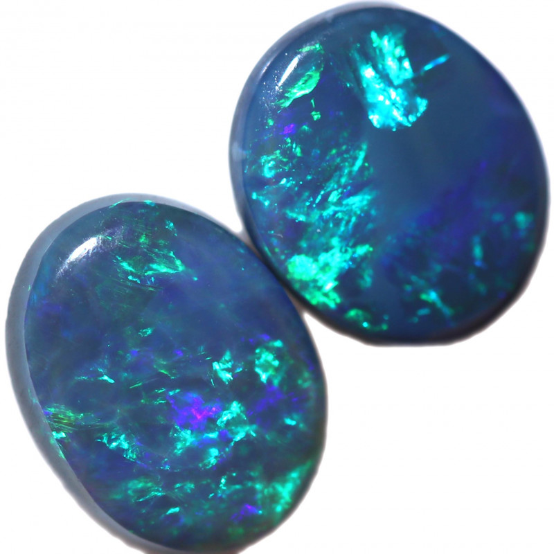 1.31 CTS BLACK OPAL SET-FROM  LIGHTNING RIDGE - [LRO1019]