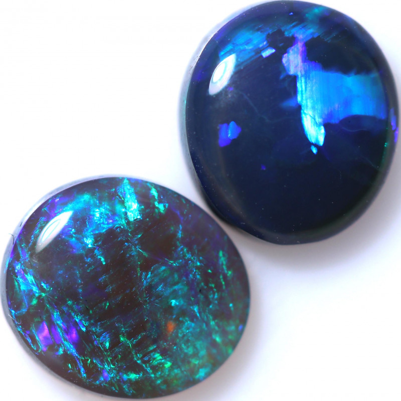 1.75 CTS BLACK OPAL SET-FROM  LIGHTNING RIDGE - [LRO1020]