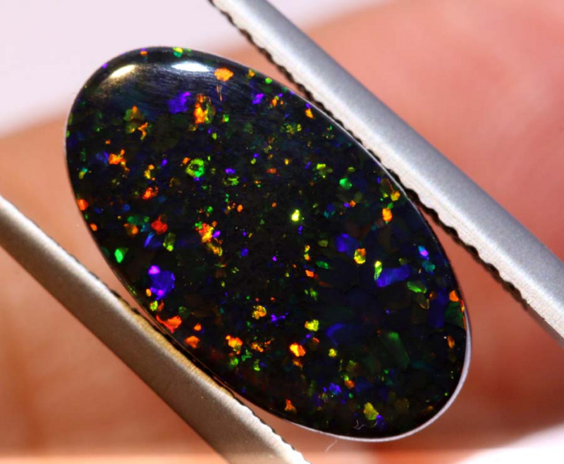N1 -  3.64 CTS QUALITY BLACK OPAL POLISHED STONE  INV-OPM 279