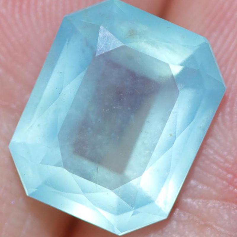 3.21 CTS A GRADE PERU BLUE OPAL FACETED. [VS8046]
