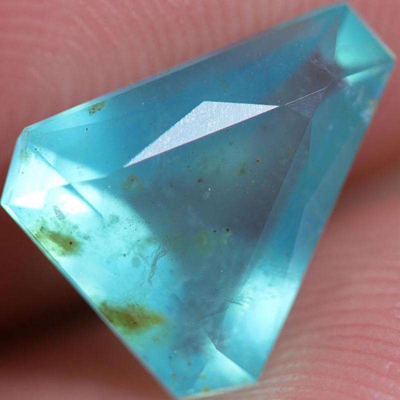 1.49 CTS A GRADE PERU BLUE OPAL FACETED. [VS8050]