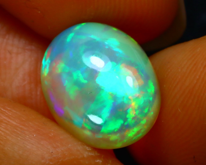Welo Opal 3.47Ct Natural Ethiopian Play of Color Opal FR29