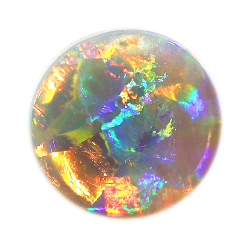 2.0CT BLACK CRYSTAL OPAL STONE LIGHTNING RIDGE [CS189]