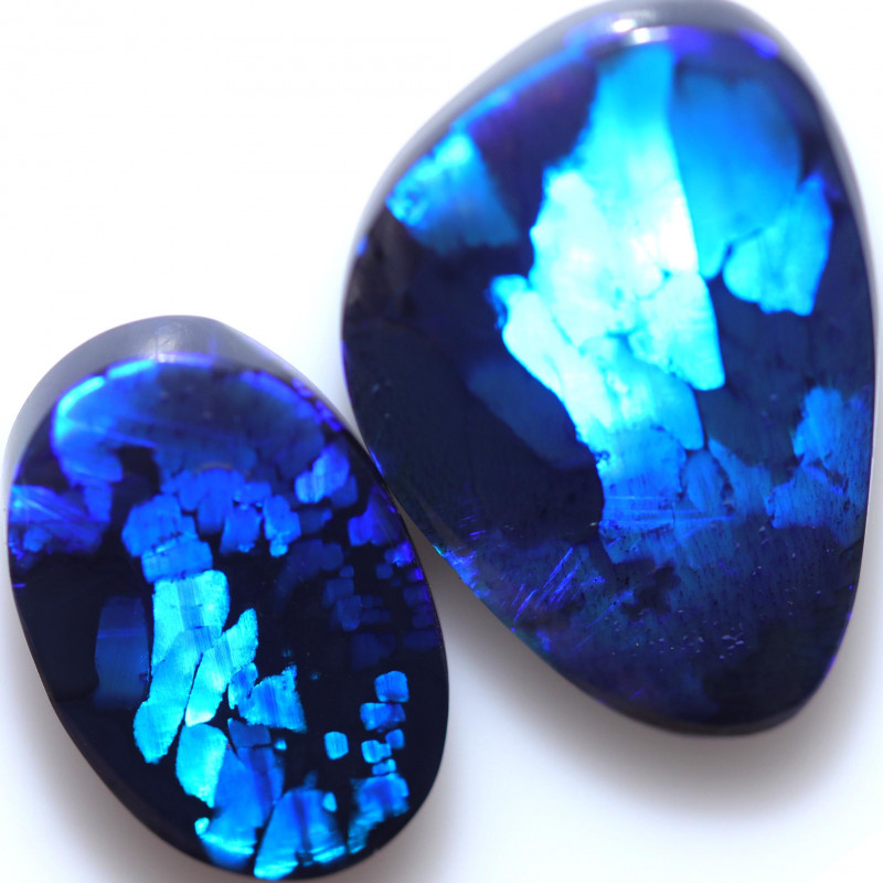 18.67 CTS BLACK OPAL STONE-HIS AND HER STONE - [LRO1036]