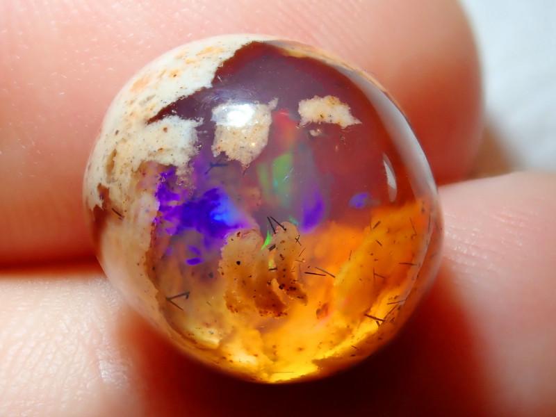 12.13ct Mexican Matrix Cantera Multicoloured Fire Opal