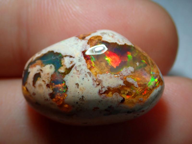 14.53ct Mexican Matrix Cantera Multicoloured Fire Opal