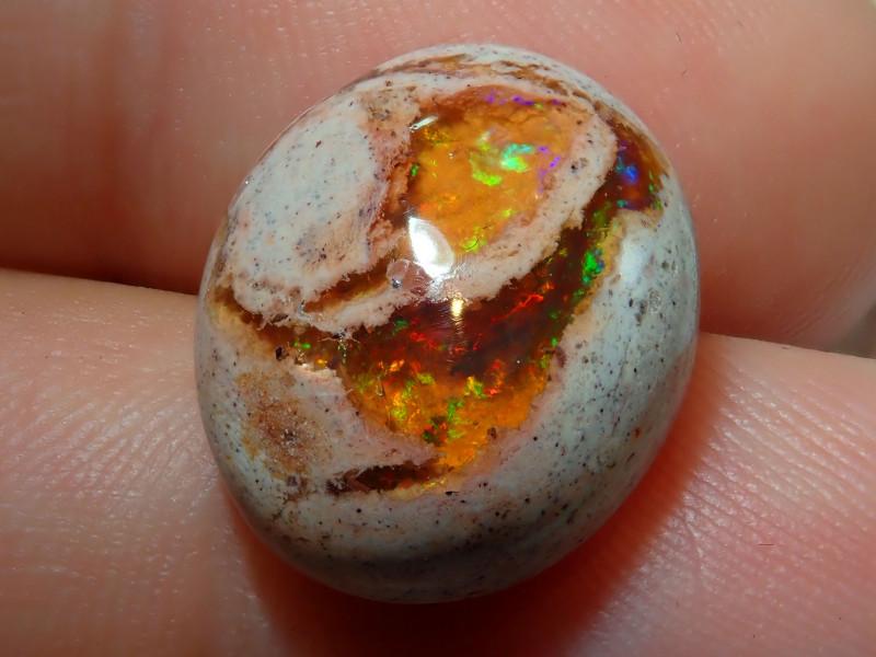 11.23ct Mexican Matrix Cantera Multicoloured Fire Opal