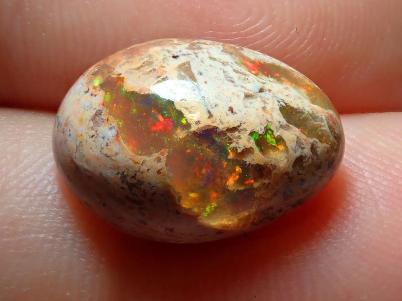 6.27ct Mexican Matrix Cantera Multicoloured Fire Opal