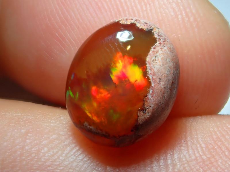 3.86ct Mexican Matrix Cantera Multicoloured Fire Opal