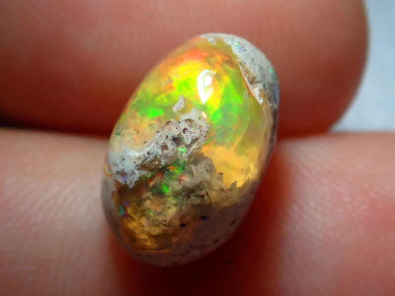 5.59ct Mexican Matrix Cantera Multicoloured Fire Opal
