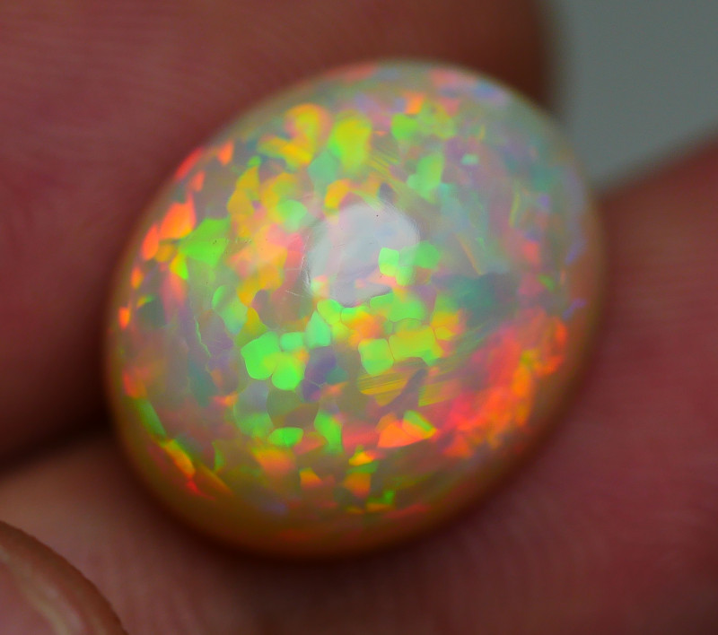 6.550 CRT GORGEOUS FLOWER PUZZLE PATTERN DELUXE COLOR WELO OPAL